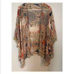 Sheer kimono with pom Pom details